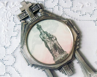 French Antique Ex Voto Holy Water Font Reilquary
