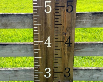 Growth chart rulers, Hand painted, homemade giant rulers, measuring sticks, Kids Nursery