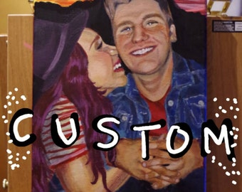 CUSTOM PORTRAITS Painted Acrylic on Stretched Canvas