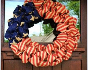 American Flag Wreath.. America .. Patriotic .. Fouth of july.. Veterans day .. Memorial day ..
