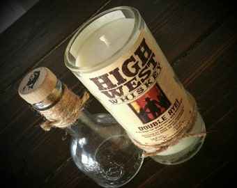 High West whiskey candle