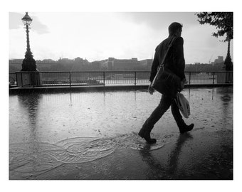 London photography, London print, Street Photography, London wall art, water photography, rain photography, Southbank, London photo, puddle