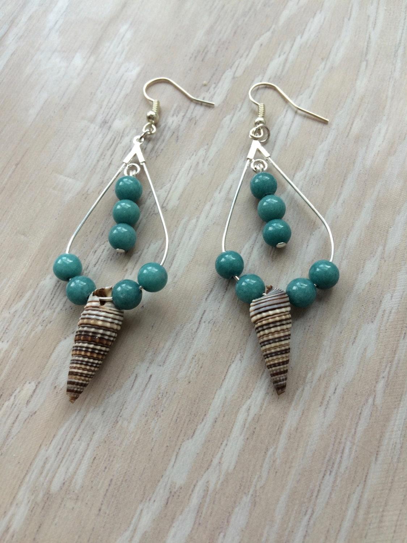 shell earrings hawaiian seashell earrings seashell jewelry