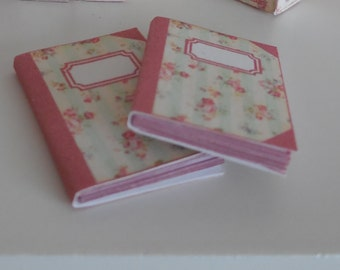 1:12 DOLLHOUSE  Notebook green lines
