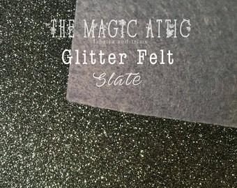 Glitter Felt - Slate