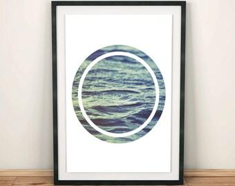 Beach Poster, Beach Decor, Beach Print, Summer, Geometric Art, Beach Art, Beach House Art, Beach Poster, Beach House Decor
