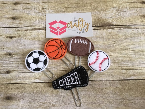 Friday Night Lights Paper Planner Clips set of 5