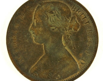 1862 Great Britain Queen Victoria One Penny