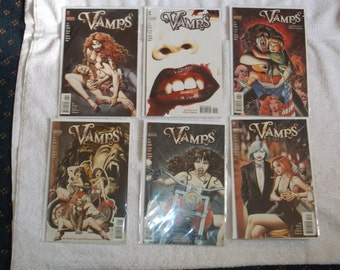 sci-fi comics-vamps-lot of 6-1990s-GD