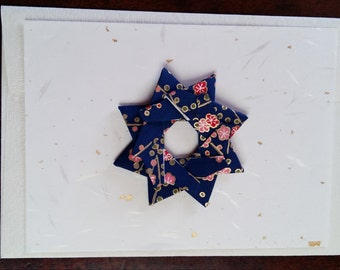 Greeting Card - Origami Star - handmade