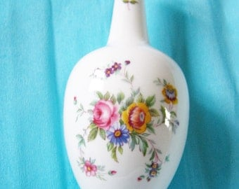 Very Pretty Vintage Flower Vase .  Minton porcelain single bloom vase in Marlow pattern
