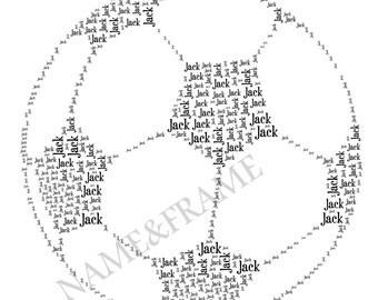Personalised Football Print