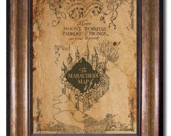 Harry Potter - Vintage Style Marauders Map- 11x14