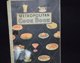Metropolitan Cookbook / cook book / paperback / Metropolitan Life Insurance / Metropolitan cook book / vintage cookbook / old cookbook