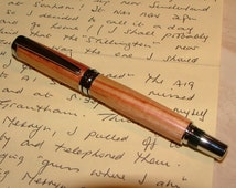 Handcrafted Fountain Pen in Rosewood. Lovely gift. (Item 656)
