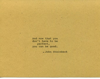 John Steinbeck Quote Made on Typewriter - East of Eden Classic Book Quote Literary Quote Wall Art Quote Decor Scrapbooking Quote