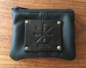 Deer Hide ID/Coin Purse:  All Black