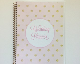 Wedding Planner & Organizer - Gold Polka Dots in Assorted Colors
