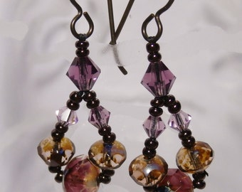 Bohemian earrings Czech beads