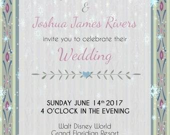 Anna inspired wedding invitation