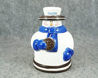 Houston Harvest Oreo Snowman Cookie Jar