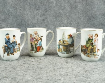 Norman Rockwell Museum Coffee Mugs c. 1982