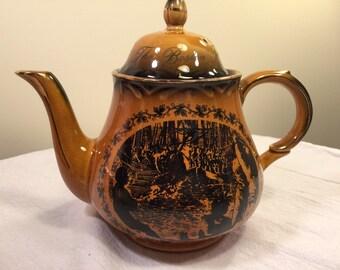 Arthur Wood England Boston Tea Party teapot