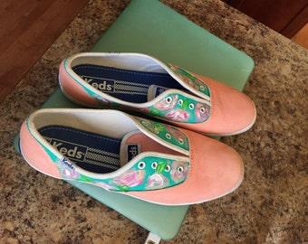 Women's floral shoes