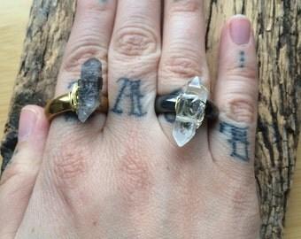 Hemitite tibetian quartz