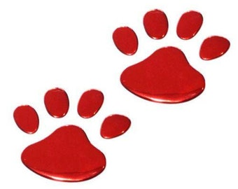 3D  Dog  Sticker   Paws  Red  aoto cars, vehicles.