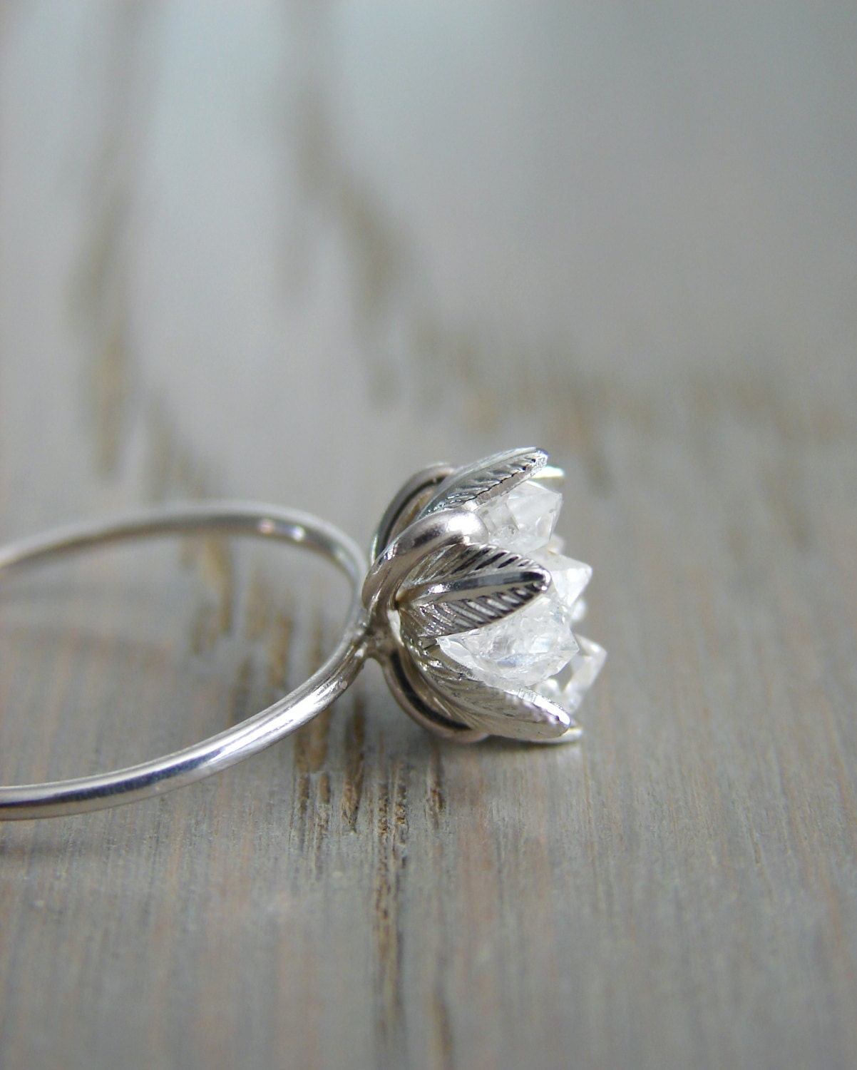 Raw Herkimer Diamond Ring Valentine's Day Gift For By