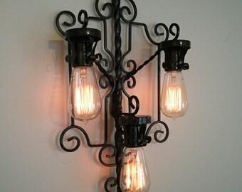 Lighting Fixture, Custom Light, Light, Edison light, Wall Light, light fixture, Handmade Light, Sconce, Lighting Sconce, Handmade Sconce