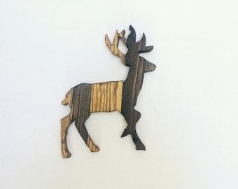 Wooden Deer Sign