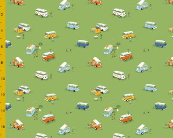 Heather Ross VW Buses Fabric  FQ~
