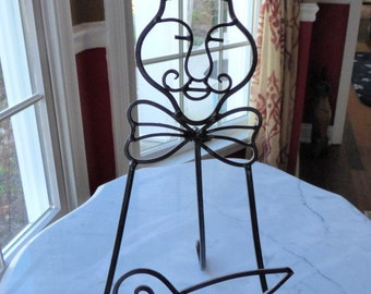 Cast Metal Wrought Iron French Chef Cookbook Holder Stand