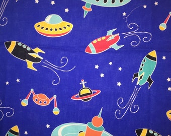 Out in space fabric by Michael Miller