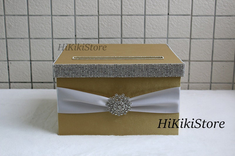 High quality 1 tier Gold Wedding card box, wedding money box,wedding ...