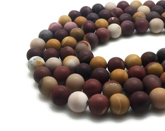 6mm Natural Frosted Mookaite Beads Round 6mm Mookaite 6mm Frosted Mookaite 6mm Frosted Beads 6mm Matte Beads 6mm Natural Mookaite