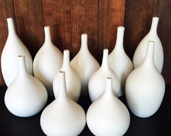 White Porcelain Bottle Vase