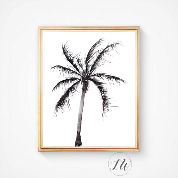 palm print palm trees california print tree art botanical. Black Bedroom Furniture Sets. Home Design Ideas