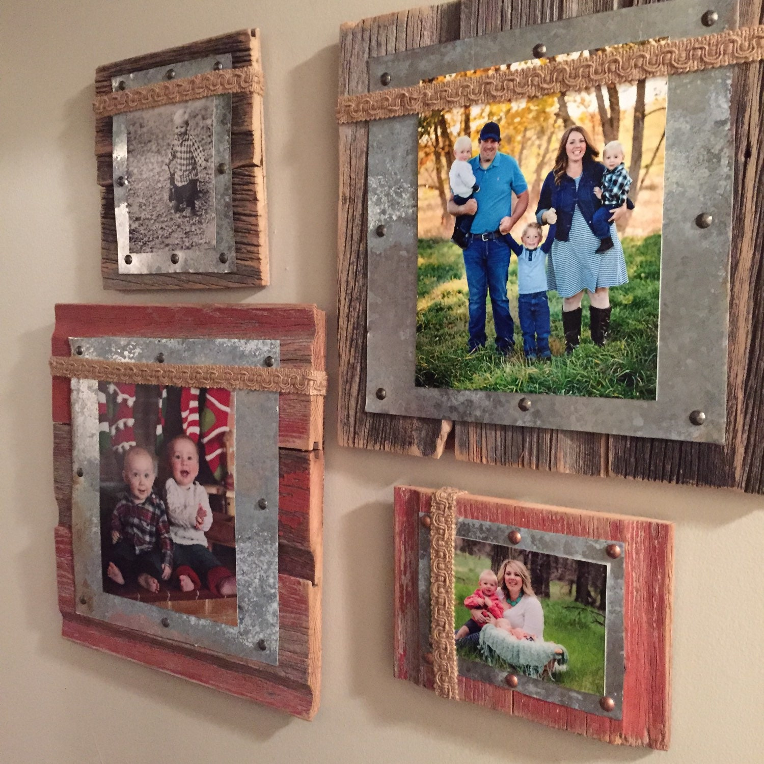 Barnwood Decor Barnwood Tin Amp Burlap Photo Frame