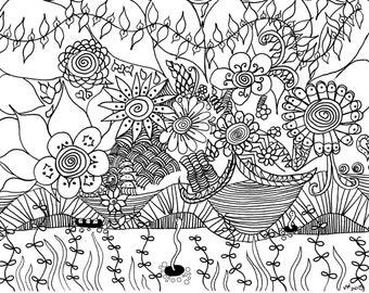 springtime coloring etsy