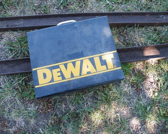 Vintage Metal Tool Box Tool Storage DeWalt Metal Drill Storage Case Black Metal Tool Box