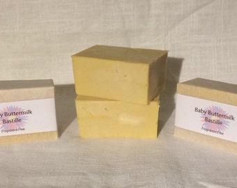 Baby Buttermilk Bastille Soap (Fragrance Free)