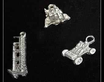 3 NASA Apollo Vintage Charms