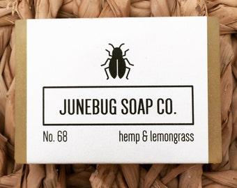 Hemp & Lemongrass Bar Soap - Natural Soap, Hemp Soap, Handmade Soap, Bar Soap, Lemongrass Soap, Vegan Soap, Gluten Free Soap, Homemade Soap