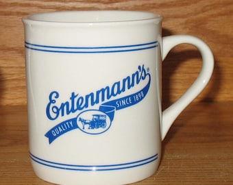 Set Of 2 Vintage Entenmann's Advertising Coffee Mugs Cups Bakery