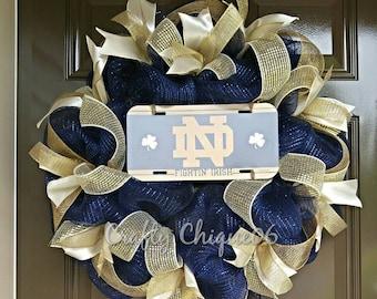 Notre Dame Wreath; Collegiate Wreath