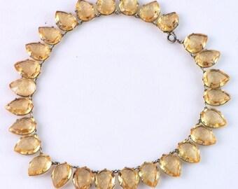 Fishel & Nessler F.N. Co. Art Deco 1900's Glass Bezel Necklace