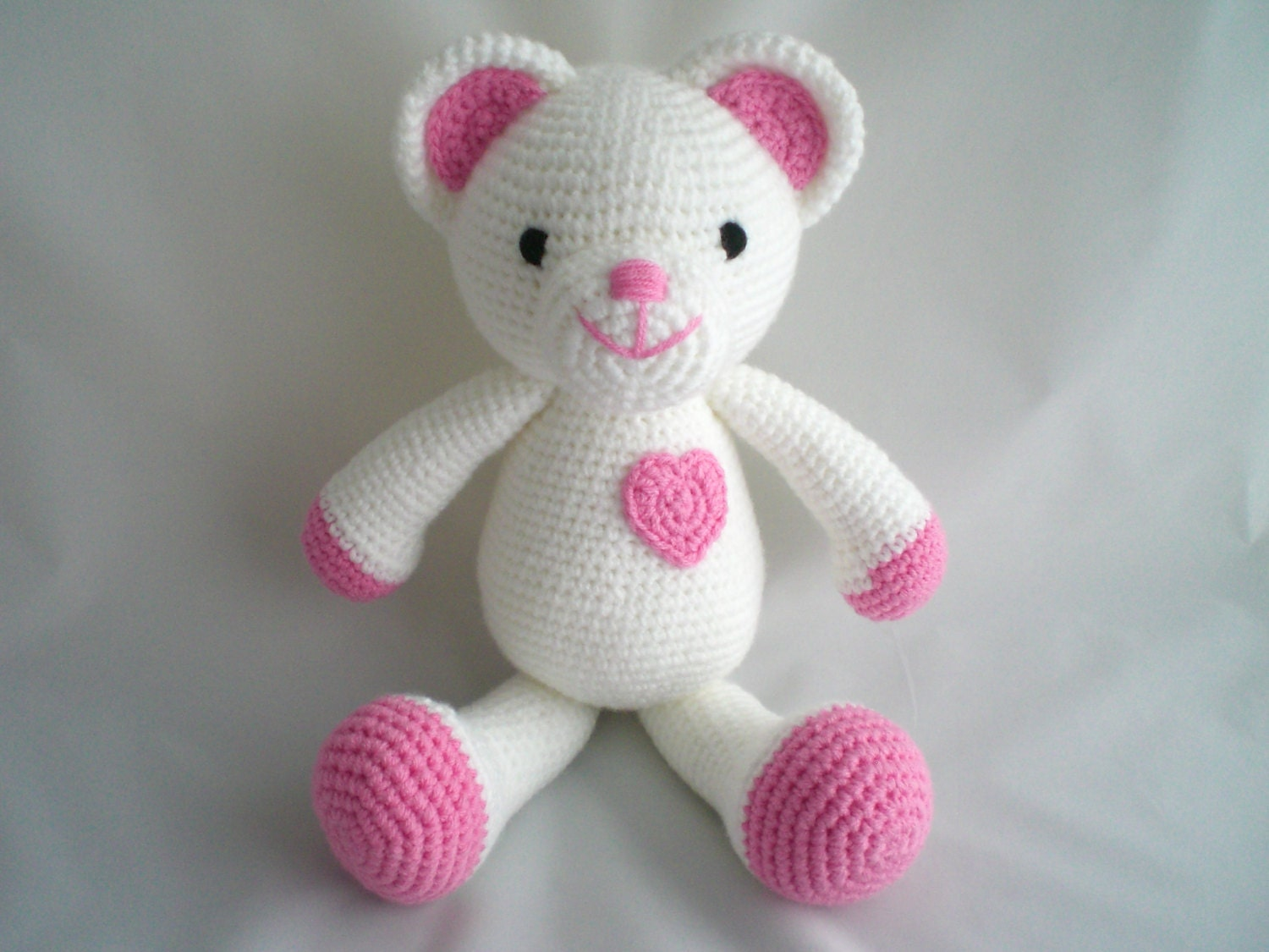 Amigurumi Little Teddy Bear : Crochet Teddy Bear / Amigurumi Teddy Bear / Crochet Love You